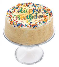 Vanilla Birthday Cake - 7 inch.