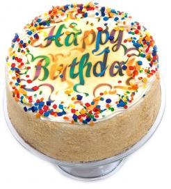 Vanilla Birthday Cake - 10 inch.